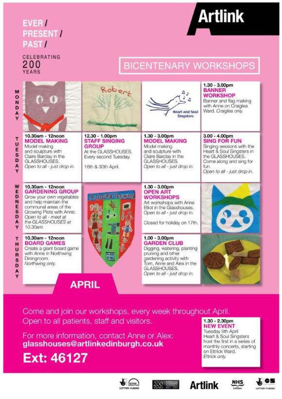 April Workshop Programme
