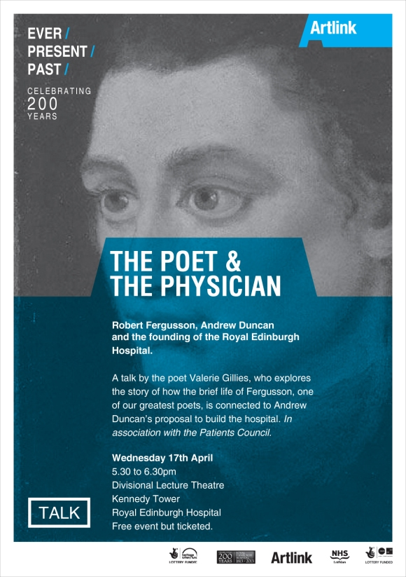 The Poet & The Physician talk poster.