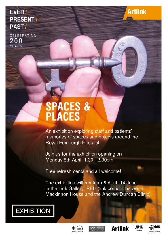 spaces + places exhibition poster