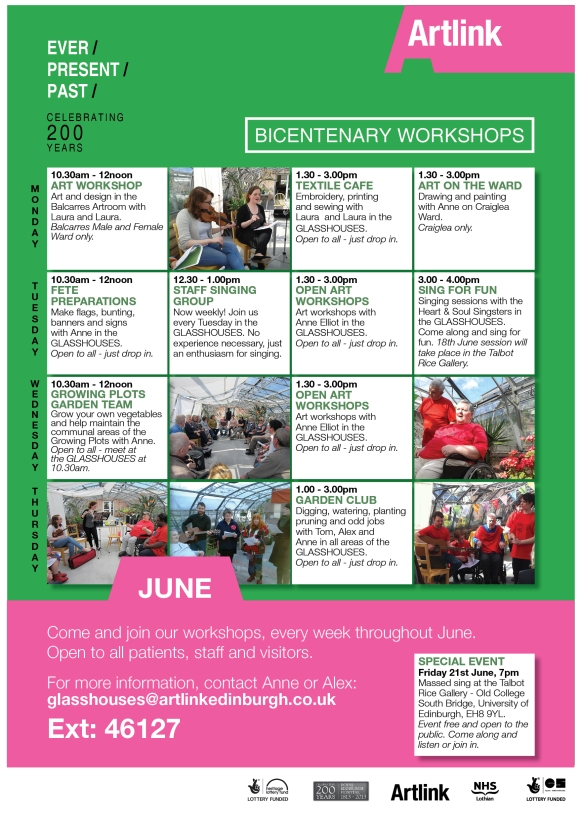 June workshop programme