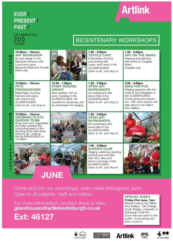 June workshop programme