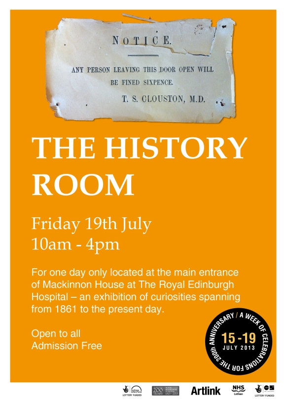 History Room Event Poster