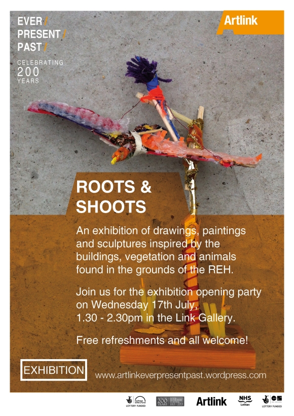 roots and shoots exhibtion poster
