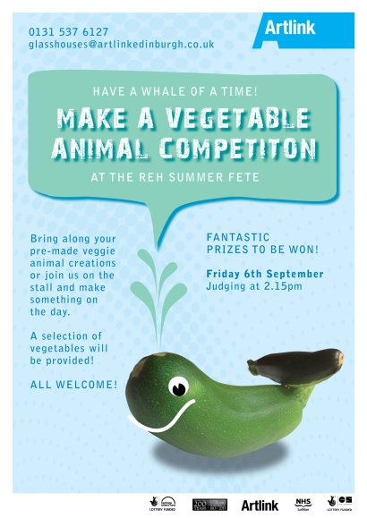 Vegetable Animal Competition Poster